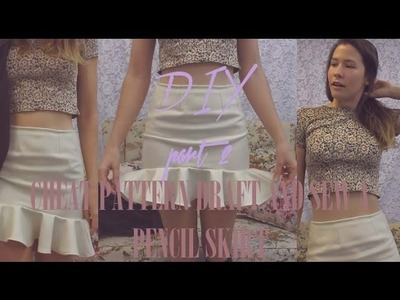 HOW TO CHEAT PATTERN DRAFT AND SEW PENCIL SKIRT PRT2