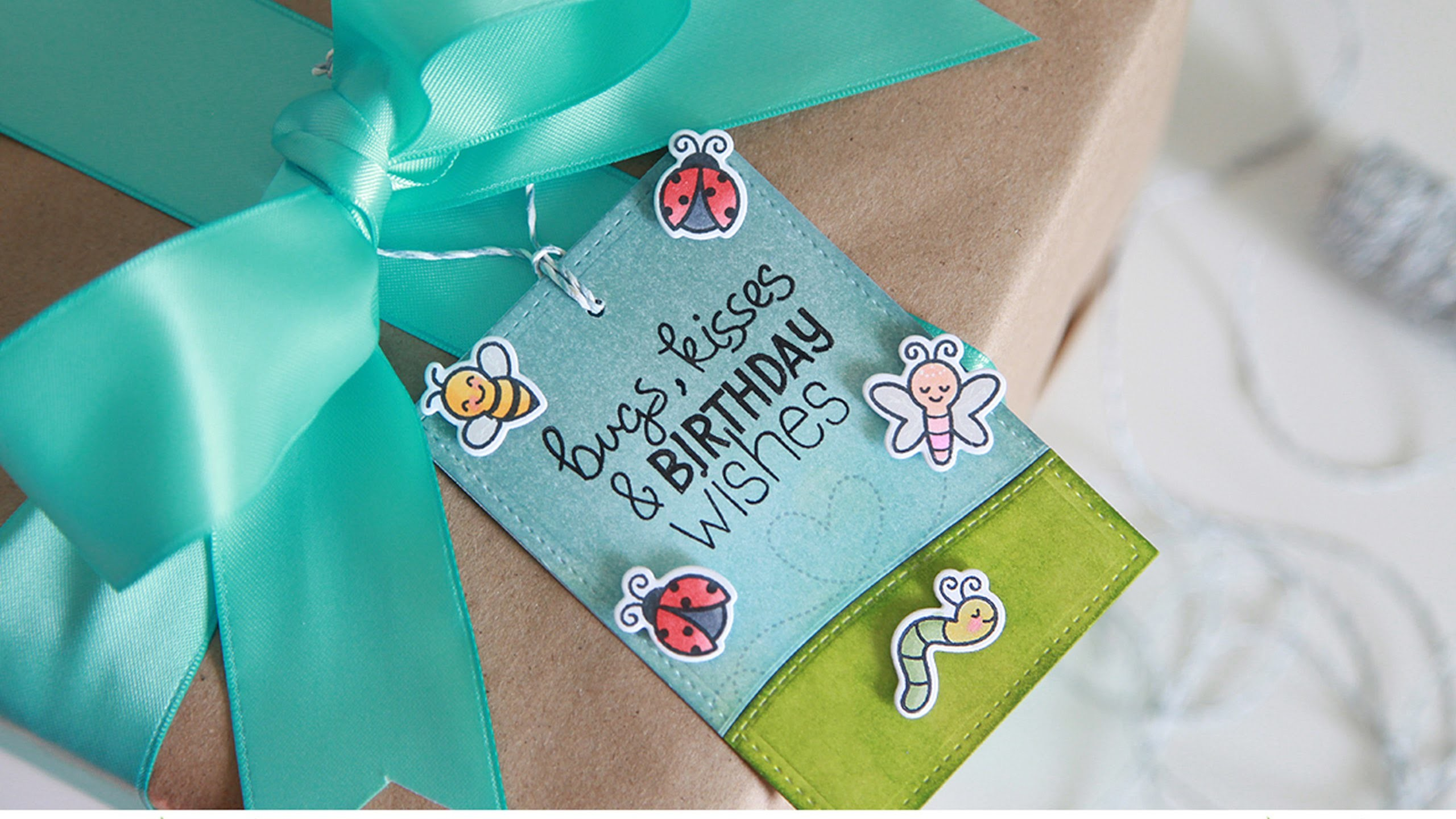 How to make a birthday gift tag