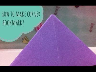 How to make a corner bookmark?
