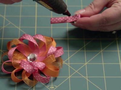How To Make A Loop Flower Hair Bow