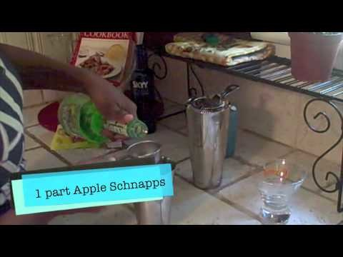 How to Make a Sour Patch Green Apple Martini Recipe