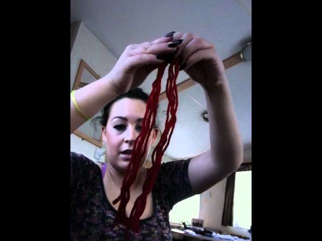 How to make a woolen wig (rag doll) halloween