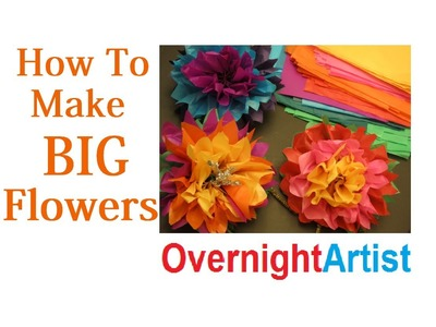 How to Make Large Flowers Tissue Paper Flowers