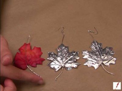 How to Make Silver Leaf Fall Earrings
