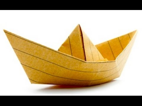 How to Origami tutorial: how to make an origami boat