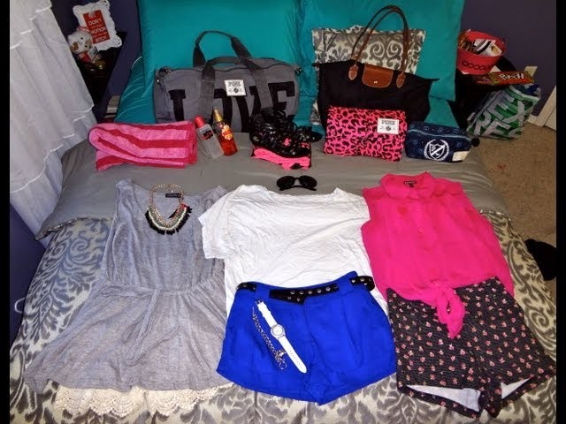 How-to Pack for a Summer Road Trip! ♥ Outfit ideas, Makeup Storage, & Victoria Secret