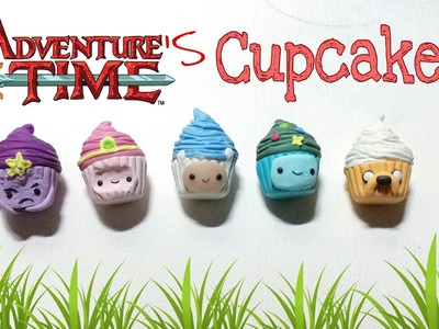 How To : Polymer Clay Adventure Time Cupcakes [5 in 1]
