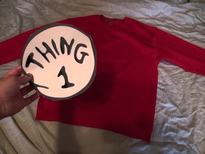 Last minute Dr. Seuss Thing 1 Costume