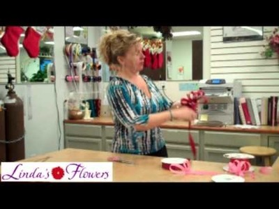 Linda's Flowers - Making Bow From Satin Ribbon