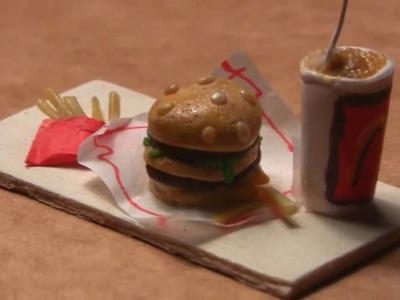 Miniature Big Mac Meal in Polymer Clay.wmv