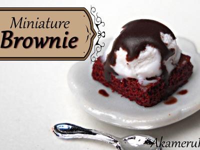 Miniature Brownie w. Ice cream - Polymer Clay Tutorial