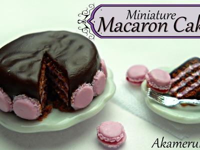 Miniature Macaron cake - Polymer Clay tutorial