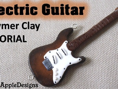 Miniature Polymer Clay Electric Guitar Pendant TUTORIAL | GlossyAppleDesigns