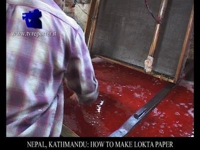 NEPAL, KATHMANDU: HOW TO MAKE LOKTA PAPER