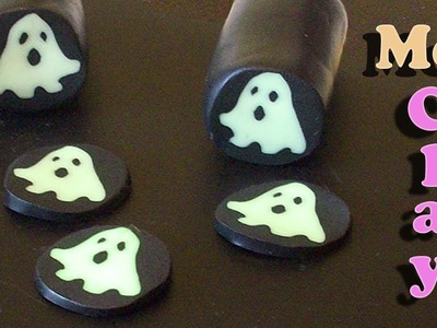 Polymer Clay Tutorial. Halloween Ghost Cane. Murrina con Fantasma