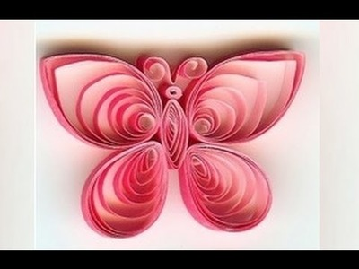 Quilling Made Easy # How to make Beautiful Butterfly design using Paper Art Quilling -Paper Quilling