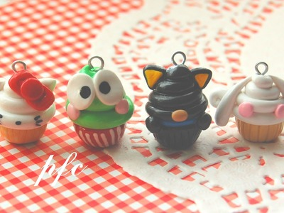 Sanrio Character Inspired Cupcake Charms {Polymer Clay Charm Update}
