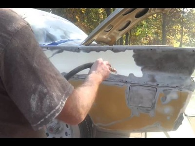 Soda blasting with harbor freight 40lb sand blaster with soda conversion kit