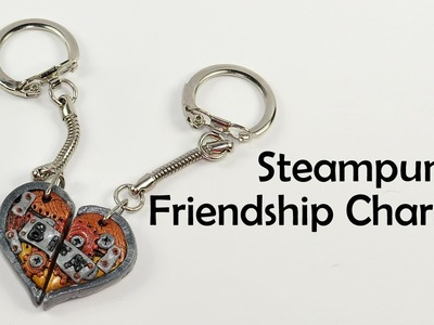 Steampunk Friendship Charm(s) - polymer clay TUTORIAL