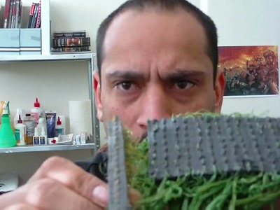 Using Fake grass to make hedges for scenery