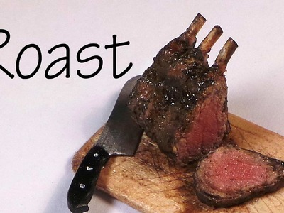 What's For Dinner?; Standing Rib Roast - Polymer Clay Tutorial