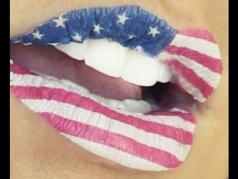4th of July & Flag Lips | Kandee Johnson