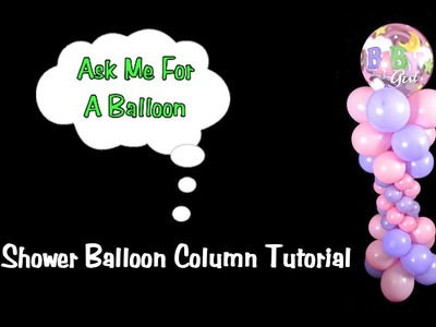Balloon Column without Stand - Balloon Decoration Tutorial