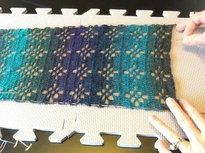 Blocking a Straight Edge Project With Blocking Wires Tutorial