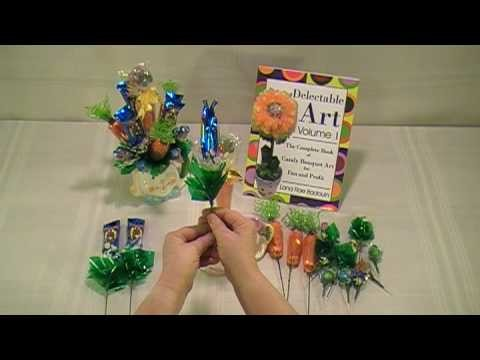 Easter Candy Bouquet - How To Make Candy Bouquets - Delectable Art