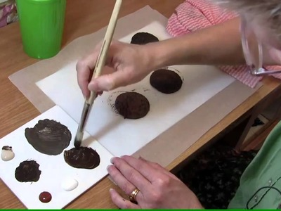 How to make a cookie in Sculpey or polymer clay  (Chocolate cream tutorial)