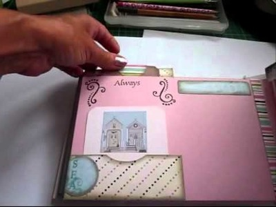 How to make a Mini album -Beach hut mini - Here's the finished album