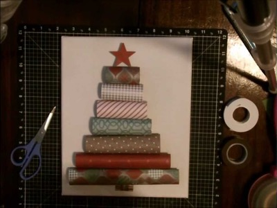 How To Make a Rolled Paper Christmas Tree Canvas