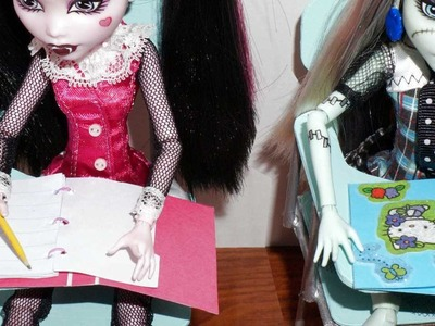 How to make a school binder for doll (Monster High, MLP, EAH, Barbie, etc)