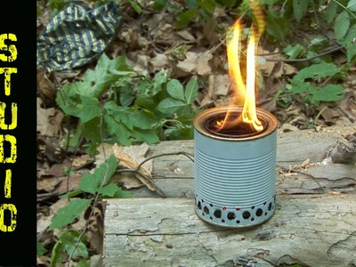 How to make a wood gas stove from 2 tin cans