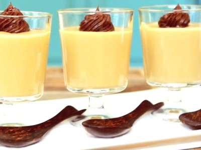 How to Make Butterscotch Pudding with Salted Chocolate Ganache - Mini Baker Episode 3