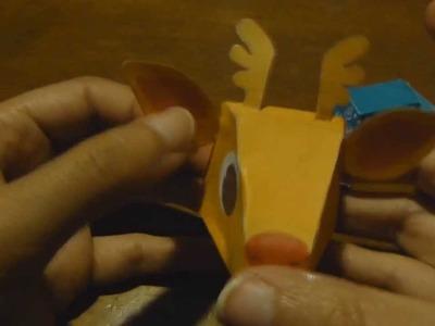 Paper toy Christmas reindeer tutorial