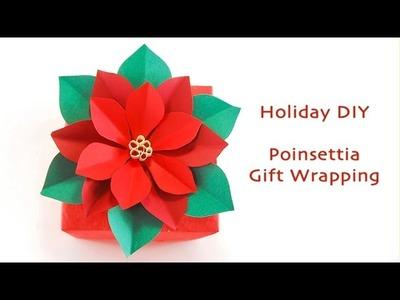 Poinsettia Gift Wrapping