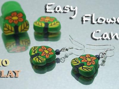 Polymer Clay easy flower cane tutorial