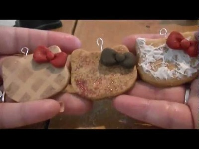 POLYMER CLAY TUTORIAL: hello kitty rice cracker