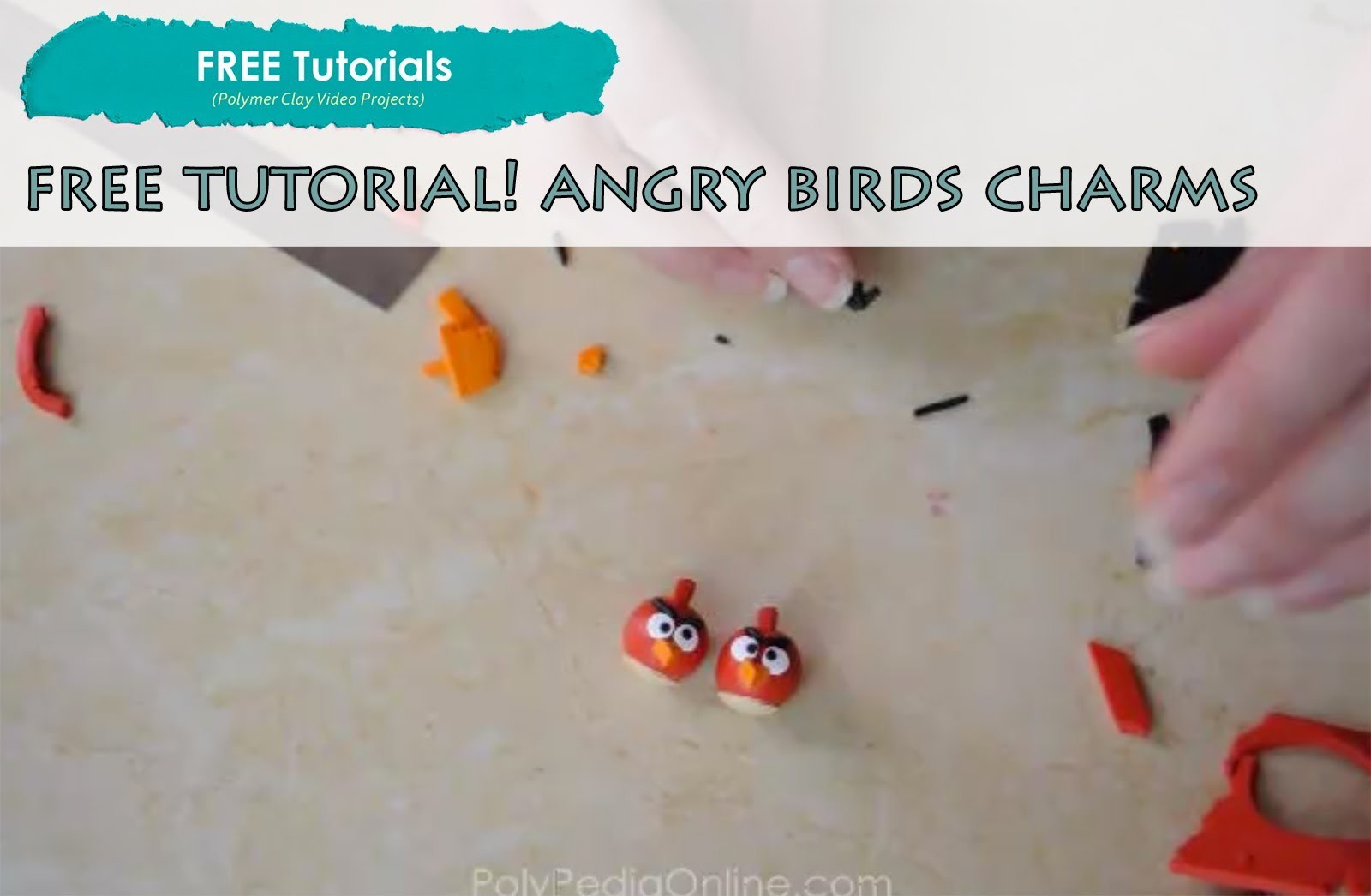 PolyPediaOnlineTV - FREE How To Polymer Clay Angry Birds Figurines