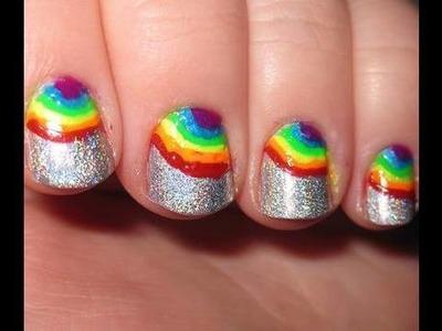 Rainbow Holographic Nails & review of Migi Nail Art Pens