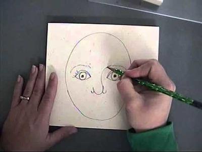 Teaching Kindergarten how to draw a self portrait