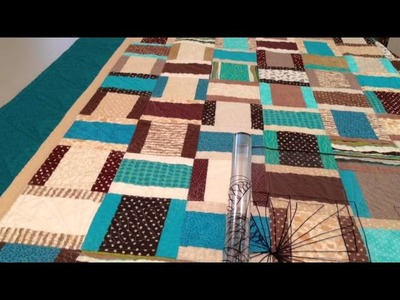 Teal Basket Weave Quilt