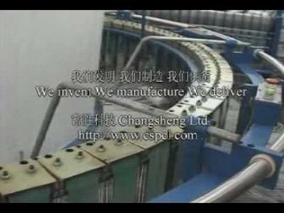 The world's 1st 10shuttle circular loom weaving