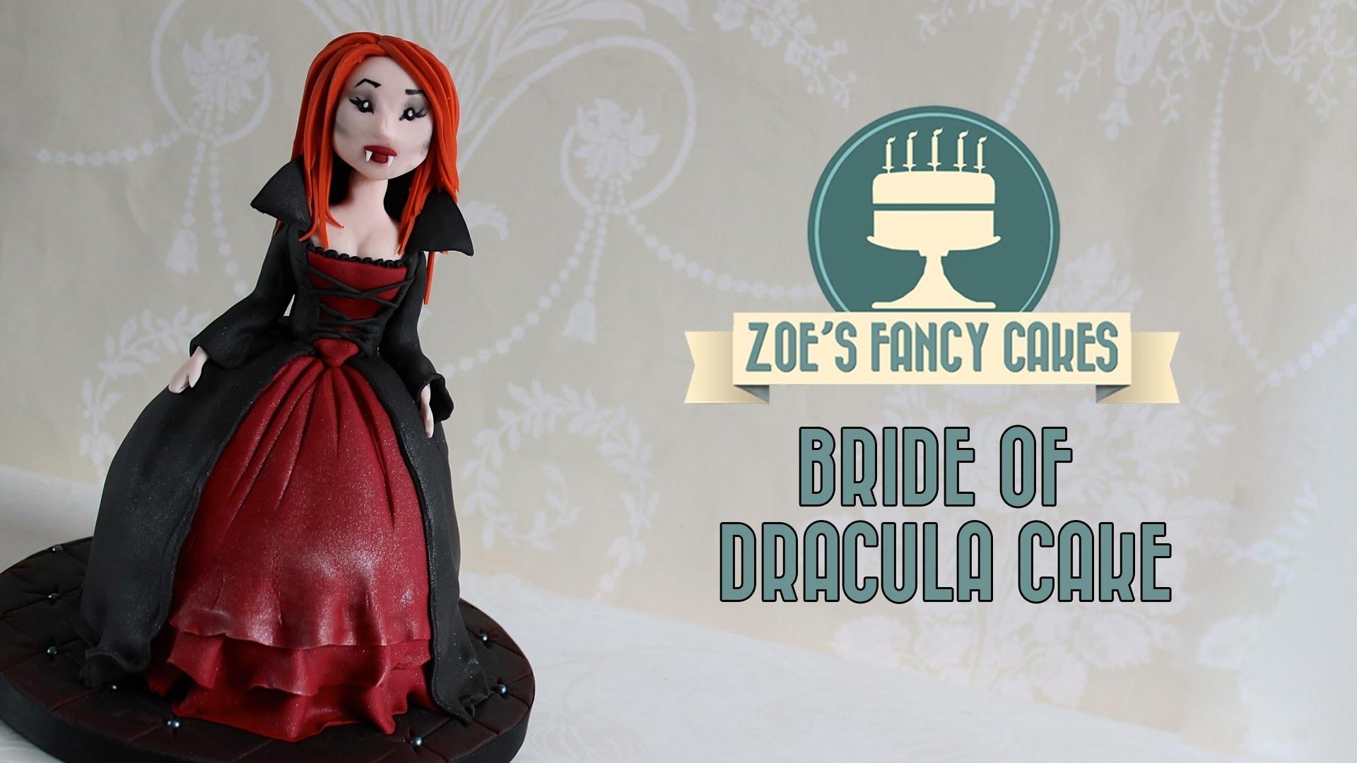 Bride of Dracula Halloween doll cake cupcake How To Cake Tutorial