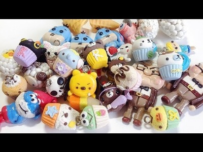 • ◡ • Polymer Clay Charms Update #4 : Cupcakes & Rilakkuma etc