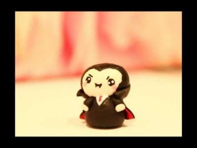 ◕‿◕ Vampire! Kawaii Friday 43 (Tutorial in Polymer Clay)