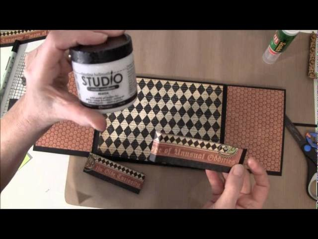 How to build a  photo mini album with G45 Olde Curiosity Shoppe paper collection Part 2