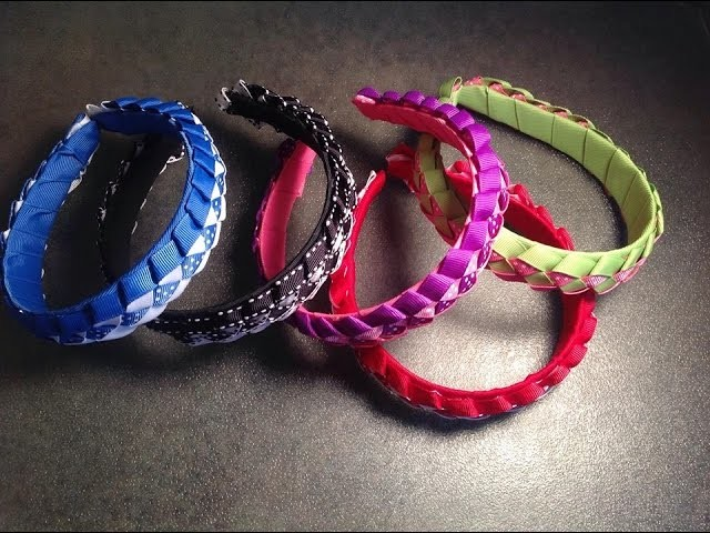 HOW TO make a braided headband how to braid ribbon