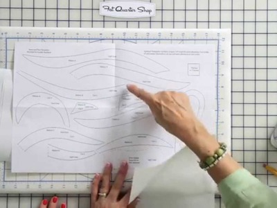 How to Make Applique Templates with Freezer Paper by Jill Finley of Jillily Studio - FQS